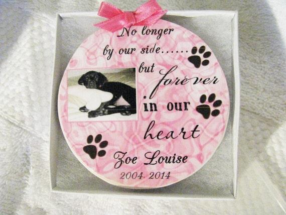 Pet Memorial Ornament, Dog Memorial, Christmas Memorial Ornament, Pet Loss, Gift for Women, Gift for Men