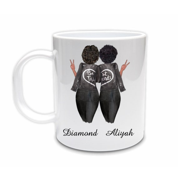 Best Friends Mug, African American, Birthday, Best Friend Gift