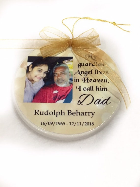 Memorial Ornament, Christmas Ornament, Christmas Gift, Loss of Dad, Loss of Mom, Loss of Loved One, Gift for her, Gift for him, Family Gift