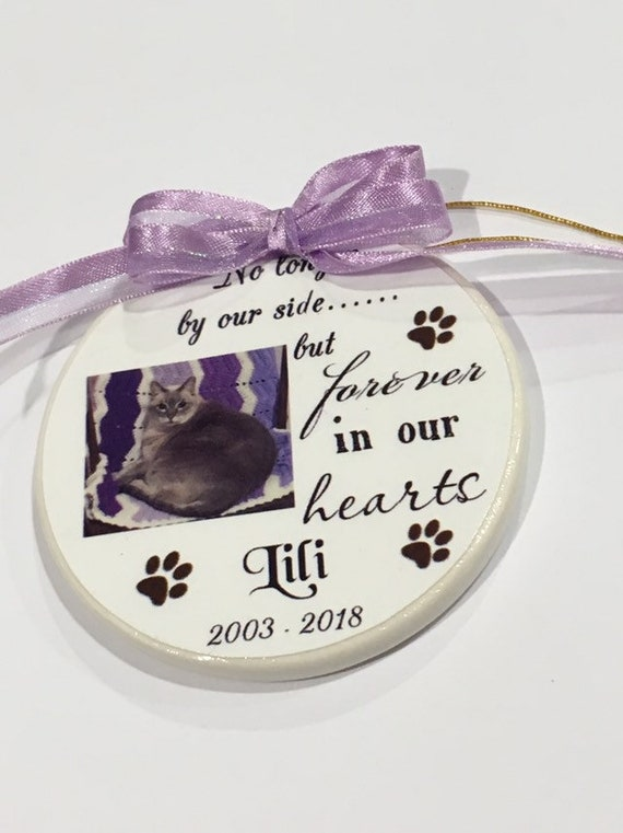 Pet memorial Christmas ornament--Rainbow Bridge pet memorial ornament