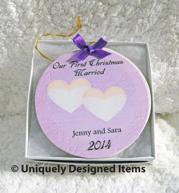 Lesbian wedding gift Personalized wedding ornament Gay Wedding Gift