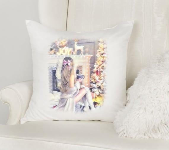 Christmas Pillows, Throw Pillow, Pillow Cover, Christmas Gift for Granddaughter