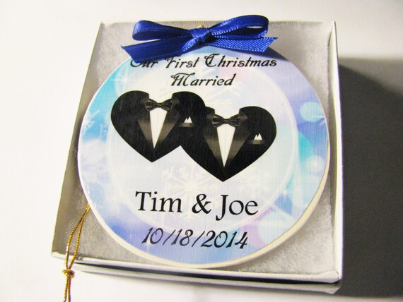 Gay wedding- Christmas Ornament - Gay Ornament - Wedding Ornament - Wedding Gift - Christmas - Gay Wedding Gift - Gay Marriage