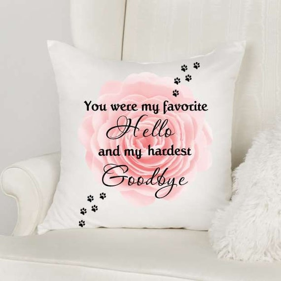 Pet Sympathy Gift, Throw Pillow, Pet Loss, Gift for Loss of Pet