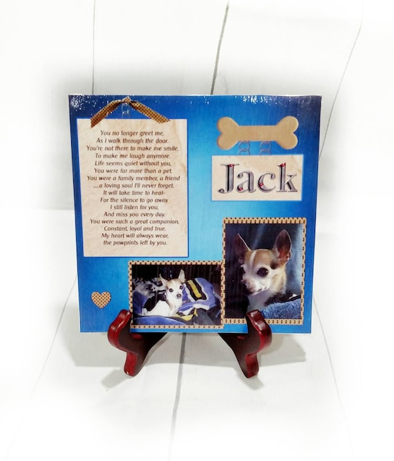 Pet Remembrance Pet memorial dog memorial pet loss gift loss of pet