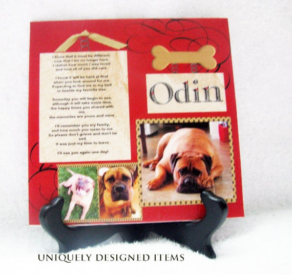 Pet Memorial plaque - Dog Memorial Plaque - Pet Memorials - Personalized gifts - Pet Sympathy Gift