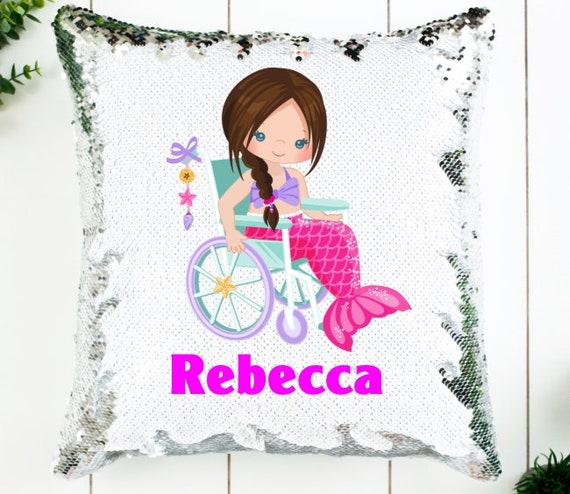 Personalized Special Needs Sequin Pillow, Custom Pillow Cover, Birthday, Gift for Girls