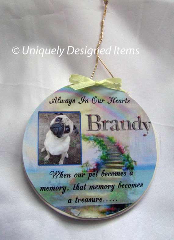 Pet Photo Memories Premium Personalized Ornament