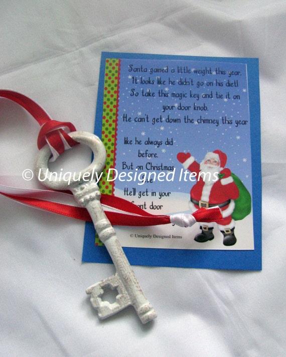 Santa Key - Magic Santa key - Christmas - Santa - Magic Key - Key - Magic - Santa's Magic Key - Christmas Key - Christmas Eve