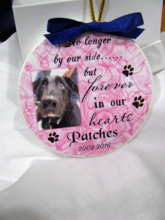 Loving Memory Pet Photo Remembrance Ornament- Pet Memorial Ornament- Sympathy Gift