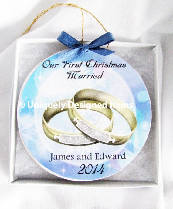 Gay Wedding Gift Lesbian Wedding Gift Gay Christmas Ornament