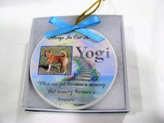 Custom Pet Memorial Ornament Gift for Dogs Cats or any pet