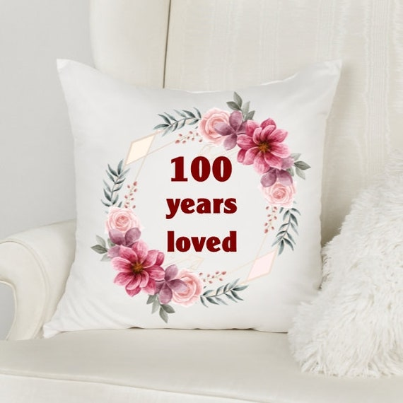 100th Birthday Gift, 100 Years Loved, Birthday, Grandma Gift