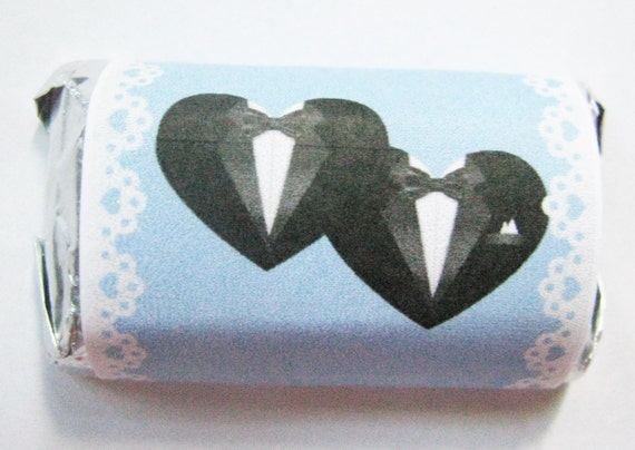 Gay wedding favors--Gay Weddings- Gay wedding ideas--  Hershey minis and/or Hershey kisses