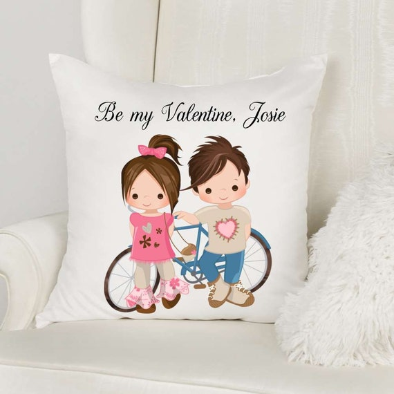 Valentine Gift for Her, Personalized Throw Pillow, Girlfriend Gift