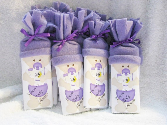 Purple Baby Shower Favors for a Unique Girl Baby Shower also in Pink, Blue, Yellow and Green Party Favors for the New Baby