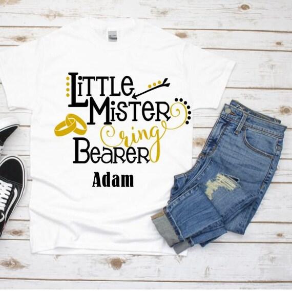 Ring Bearer Proposal, Ring Bearer T-Shirt, Wedding, Gift for Boys