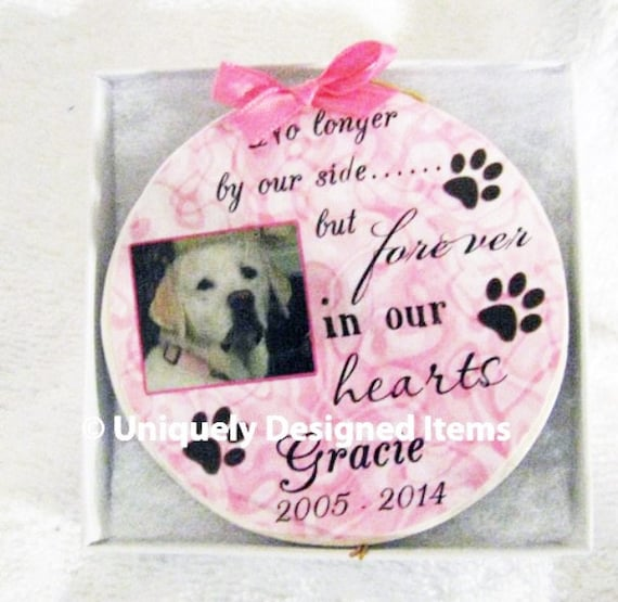 Personalized Loving Memory Dog Memorial Christmas Ornament- Personalized and Custom made