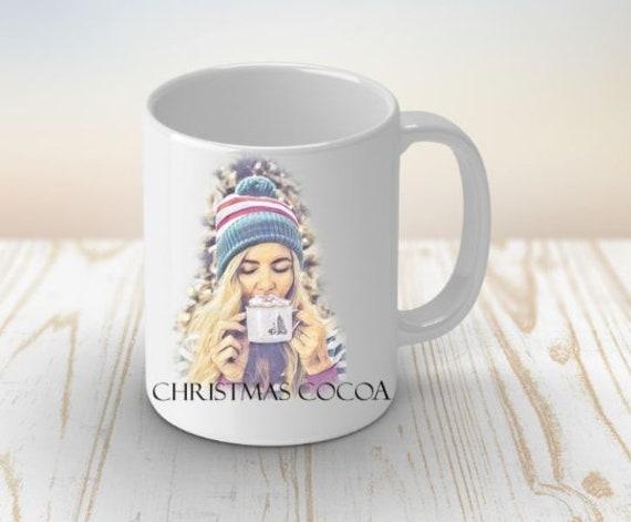 Christmas Mug, Hot Cocoa Mug, Christmas, Daughter Gift