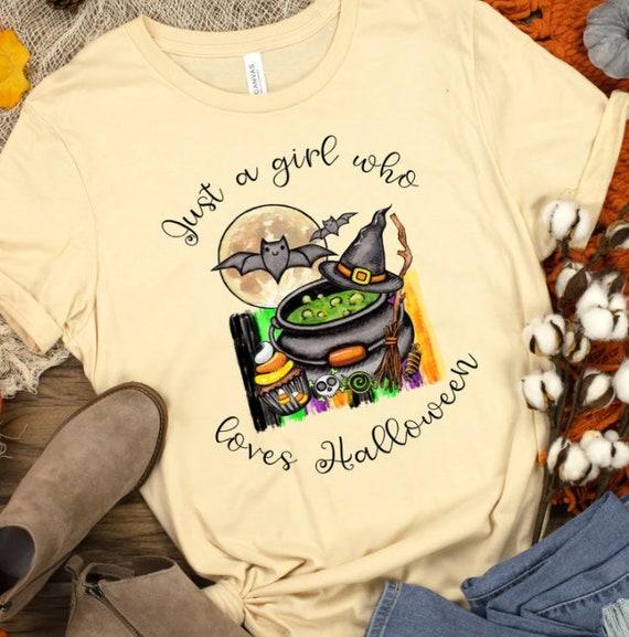 Halloween Shirt, Just A Girl That Loves Halloween, Gift for Friend