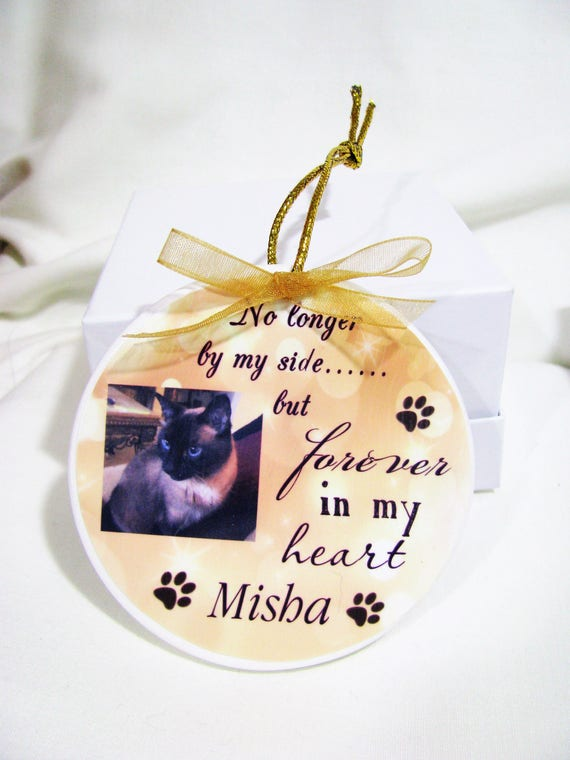 Pet Memorial Christmas Ornament, Dog Memorial, Cat Memorial, Christmas Gift, Gift for Her, Family Gift, Gift for Him