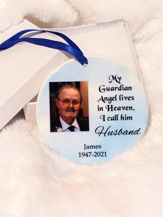 Loss of Husband, Memorial Ornament, Sympathy Gift, Mom Gift