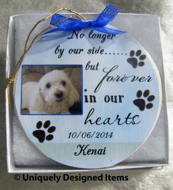 Personalized Loving Memory Dog Memorial Christmas Ornament