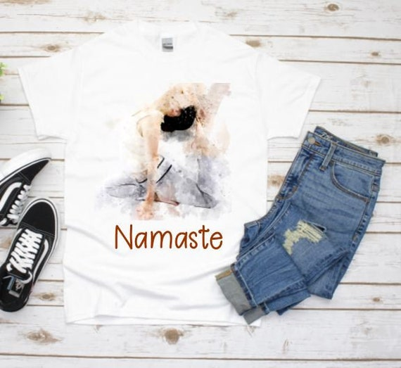 Namaste Shirt, Yoga Shirt, 50th Birthday Gift for Women, Gift for Wife