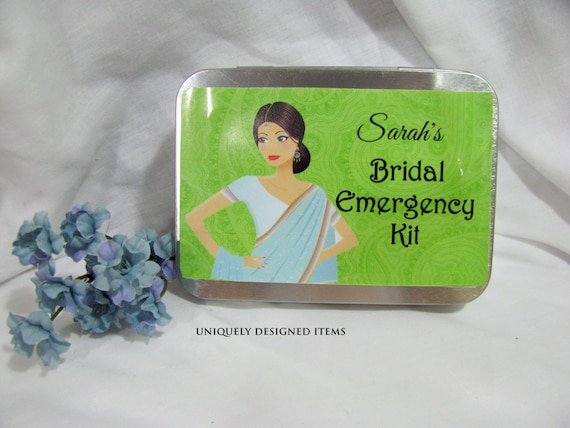 Indian Wedding Bridal Gift  --- Bridal Gift-- Bridesmaids Gifts-- Maid of Honor Gift-- Bridal Emergency kit-custom made