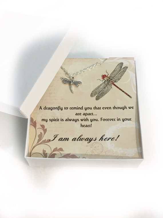 Memorial Jewelry Sympathy Gift Heart Necklace Memorial Gift Dragonfly Memorial Gifts In Loving Memory