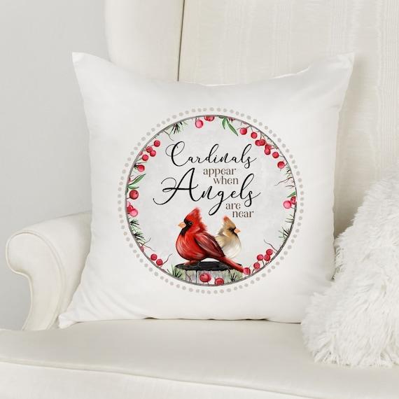 Cardinal Gifts, Memorial Gift, Throw Pillow, Christmas, Gift for Mom