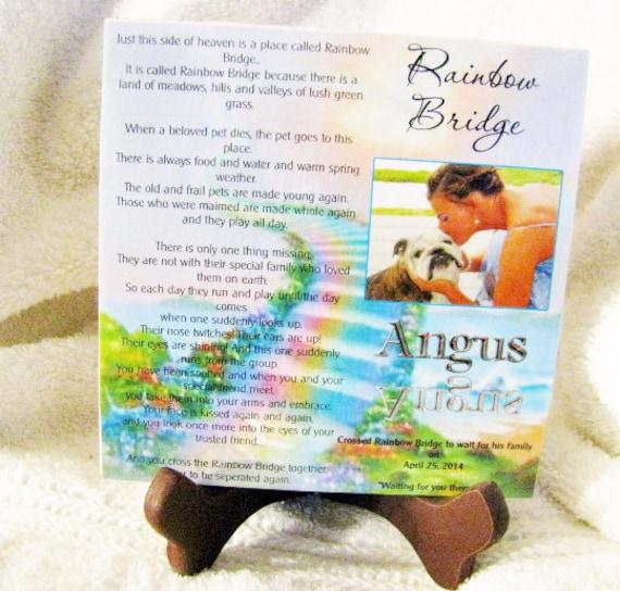 Pet Memorial Plaque, Bereavement, Gift for Wife