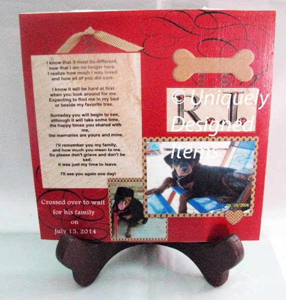 Pet Memorial Plaques with photo