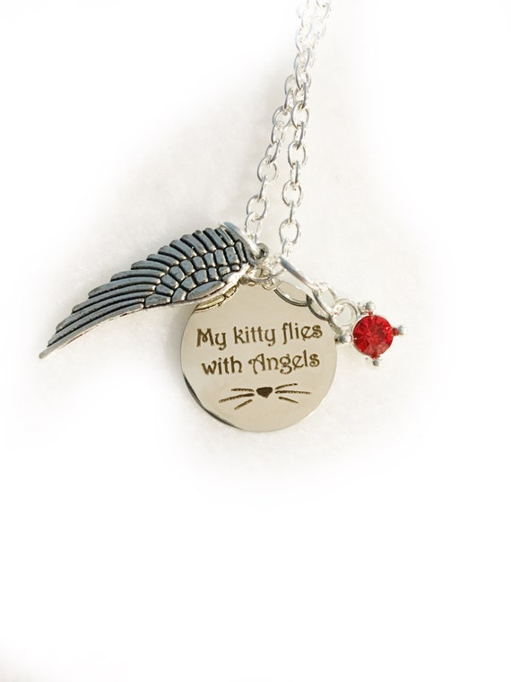 Cat Memorial Jewelry Pet Memorial Necklace Pet Remembrance loss of pet