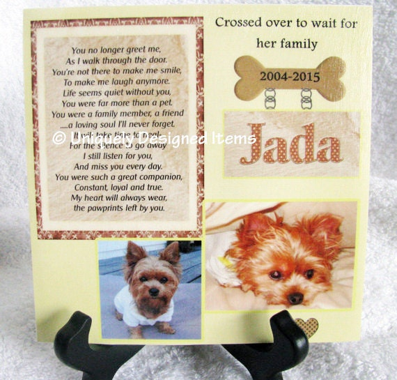 Loyal Companion Dog Photo Pet Keepsake Plaque