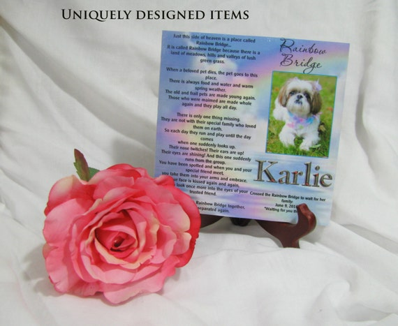 Pet memorial plaque Pet Remembrance Keepsake