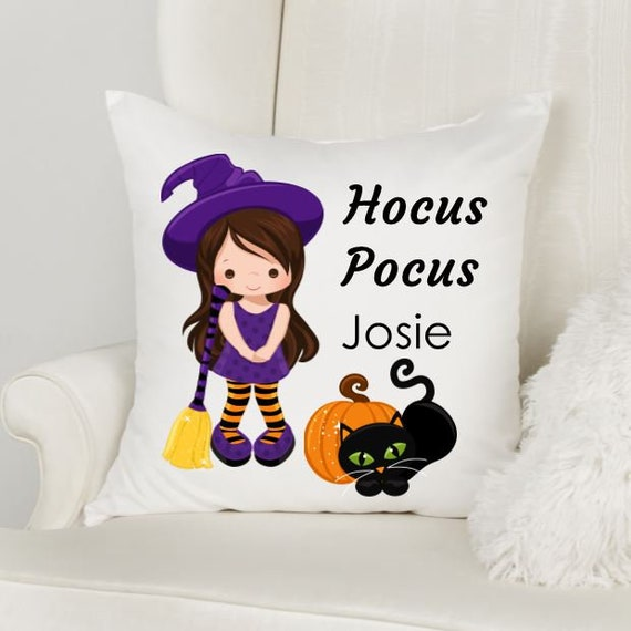 Halloween Decorations, Throw Pillow, Personalized Gift for Girls