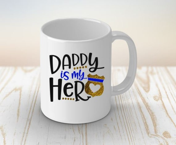 Daddy Police Officer Coffee Mug, Dad Hero Gift, Police Officer Dad, Father's Day Gift, Birthday Gift, Expecting Cop, Back the Blue