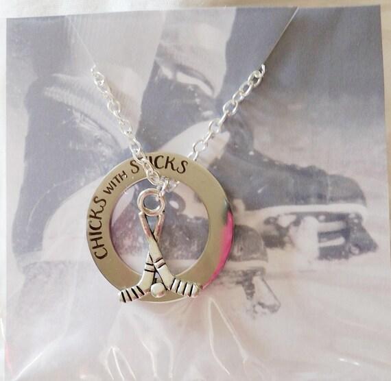 Hockey necklace hockey jewelry hockey mom