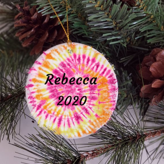 Tie Dye, Personalized Ornament, Christmas, Niece Gift