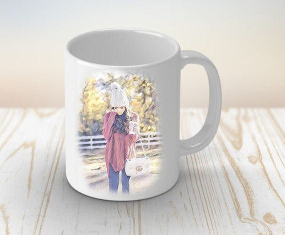 Winter Gift, Coffee Mug for Her, Birthday Gift, Valentines Day, Valentine's Gift for her, Gift for Girlfriend