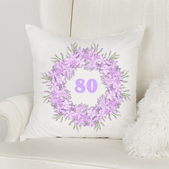 80th Birthday Gift, Throw Pillow, Birthday, Mother In Law Gift