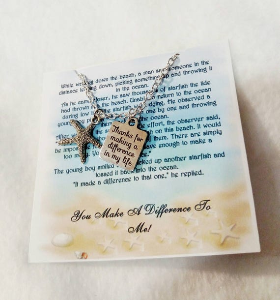 Make a difference starfish thank you gift teacher gift coach gift