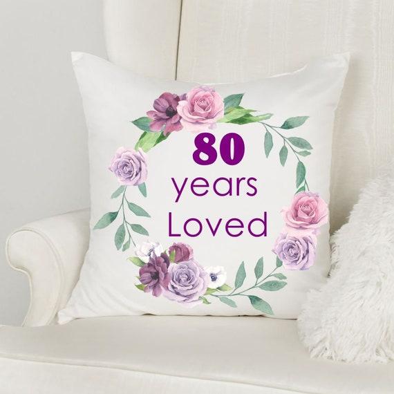 80th Birthday Gift, Throw Pillow, Mom Gift