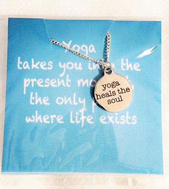 Yoga gift gift for her necklace Christmas gift Yoga gifts Yoga