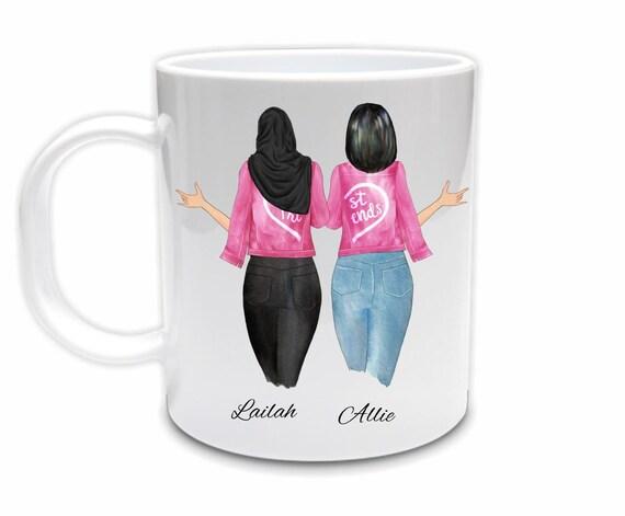 Best Friend Gift, Best Friend Mug, Muslim, Birthday Gift for Friend