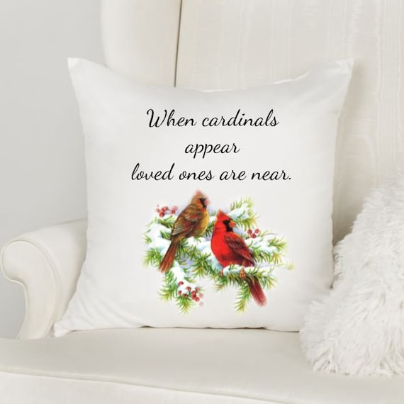 Gift for Loss of Father, Throw Pillow, Cardinal Gift, Bereavement Gift, Sympathy Gift