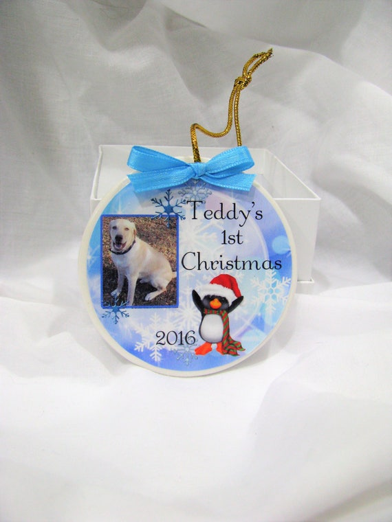 First Christmas - Christmas ornament - Christmas - Dog ornament - personalized - puppy - puppy' first - dog Christmas - Dog - Pet ornament