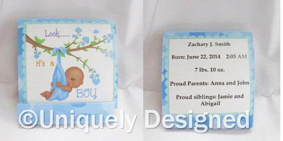 African American Baby Shower Favors-- New Baby ideas   -- mini nail files- baby showers or baby announcement!