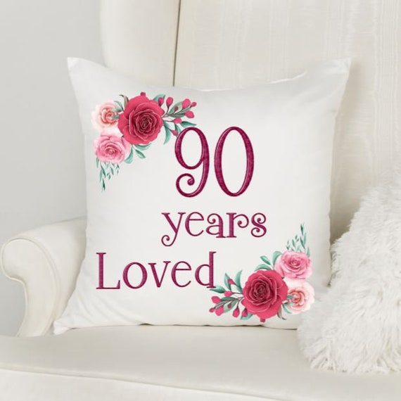90th Birthday Gifts for Women, Throw Pillow, Birthday, Gift for Mom